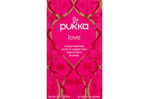 Pukka Love Herbal Tea Sachets - 20 CT
