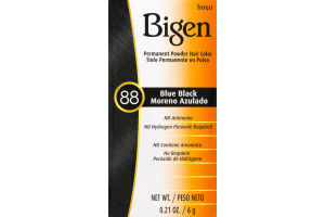 Bigen Permanent Powder Hair Color 88 Blue Black