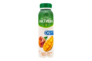 Бифидойогурт 1.2% питьевой без сахара Манго-Персик Активіа п/бут 270г