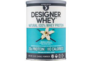 Designer Whey Natural 100% Whey Protein French Vanilla