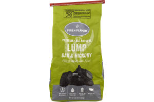 Fire & Flavor Lump Oak & Hickory Charcoal