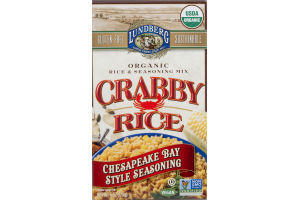 Lundberg Organic Rice & Seasoning Mix Crabby Rice Chesapeake Bay Style