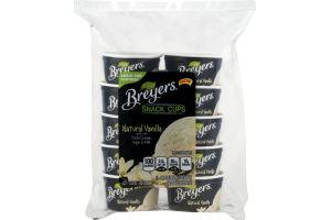 Breyers Snack Cup Ice Cream Natural Vanilla - 10 CT