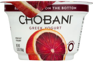 Chobani Greek Yogurt Blood Orange On The Bottom