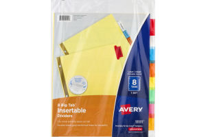 Avery Big Tab Insertable Dividers - 8 CT