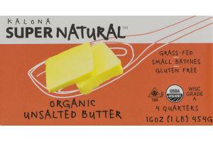 Kalona Super Natural Organic Unsalted Butter - 4 CT