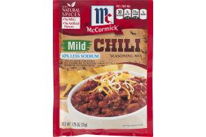 McCormick Chili 30% Less Sodium Seasoning Mix Mild