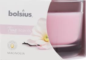 Свеча Bolsius Магнолия аромат в стекле 63/90мм D*1
