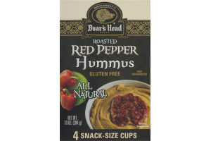 Boar's Head Hummus Roasted Red Pepper Snack-Size Cups - 4 CT