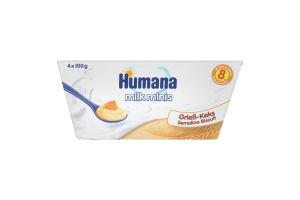 Пудинг манний з печивом для дітей від 8міс Humana п/у 4х100г