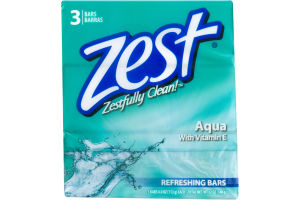 Zest Refreshing Bars Aqua - 3 CT