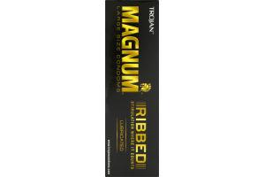 Trojan Magnum Ribbed Large Size Condoms 12 Ct Trojan22600642152