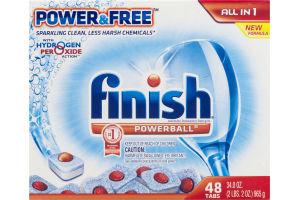 Finish Powerball Power & Free All In 1 Tabs - 48 CT