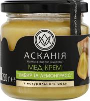 Крем-мед Імбир та лемонграсс Асканія с/б 250г