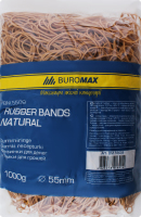 Гумки для грошей 55мм Natural №BM5509 Buromax 1000г