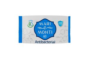 MARI e MONTI серветки вологі Антибактеріальні 60шт