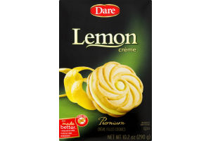 Dare Creme Filled Cookies Lemon Creme