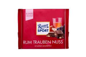 Шоколад з ромом родзинками та горіхами Ritter Sport 100г