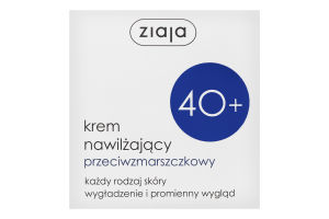 Крем для обличчя денний зволожуючий проти зморшок 40+ Ziaja 50мл