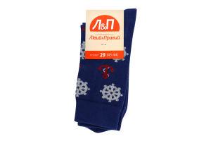 Шкарпетки чоловічі Лівий&Правий Море 29 синій
