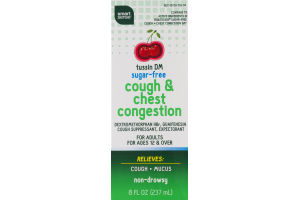 Smart Sense Tussin DM Cough & Chest Congestion Sugar-Free Cherry