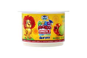 Йогурт 1.5% з яблуком та грушею Локо Моко ст 115г