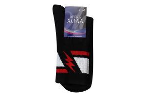 Шкарпетки чоловічі Легка хода №6347 27 чорний