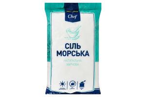Соль морская натуральная пищевая Metro Chef м/у 1кг