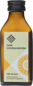 Олія соняшникова Лавка традицій холодного віджиму нерафінована, 100 мл