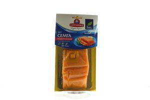 Семга филе-кус подкопченная Санта Бремор в/у 300г