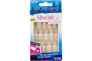 Broadway Nails Real Life Everyday Style Real Short Length - 24 CT