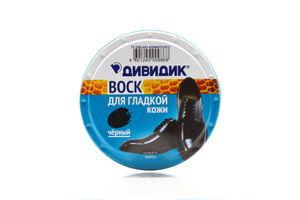Воск для обуви из гладкой кожи черный Дивидик 50мл