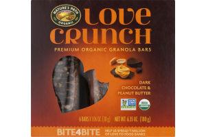 Nature's Path Organic Love Crunch Premium Organic Granola Bars Dark Chocolate & Peanut Butter - 6 CT