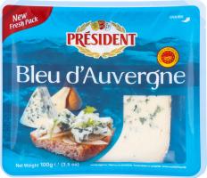 Сир President Blue d`Auverqne 50% 100г х6