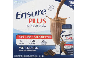 Abbott Ensure Plus Nutrition Shake Milk Chocolate - 16 PK