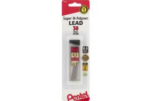 Pentel Super Hi-Polymer Lead 0.5mm Fine - 30 CT