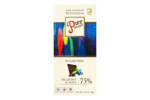 Шоколад 75% чорний Billberry&Asaya Pure Delight к/у 90г