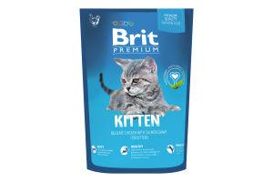 Корм Brit Premium д/кошенят сухий з куркою 1,5кг