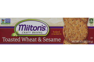 Milton's Craft Bakers Baked Crackers Toasted Wheat & Sesame