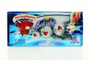 Сыр плавленый Belcube сливочный 50% к/у 24шт/125г