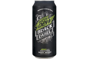 Mtn Dew Black Label with Dark Berry
