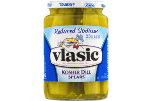 Vlasic Kosher Dill Spears Reduced Sodium