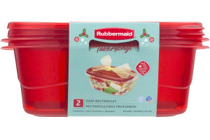 Rubbermaid Take Alongs Containers + Lids Deep Rectangles - 2 CT