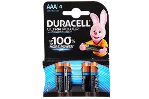 DURACELL Ultra Power AAA Бат. алкаліновi 1.5V LR03 4шт 4шт