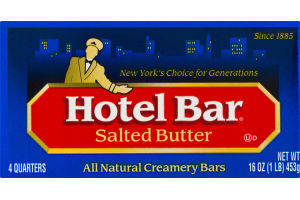 Hotel Bar Salted Butter All Natural Creamery Bars - 4 CT