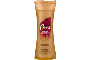 Caress Evenly Gorgeous Exfoliating Body Wash Burnt Brown Sugar & Karite Butter