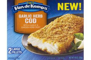 Van De Kamp's Cod Fillets Garlic Herb - 2 CT