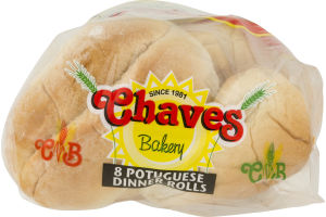 Chaves Bakery Dinner Rolls Portuguese - 8 CT