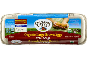 Organic Valley Organic Large Brown Eggs Free Range Grade A - 12 CT