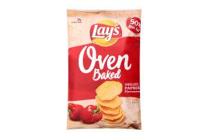 Чіпси картопляні запечені зі смаком паприки Lay's м/у 125г